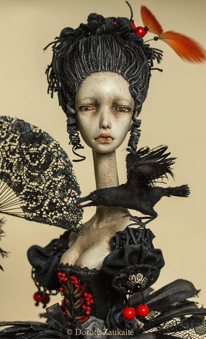 Dorote Zaukaite – Beautiful dolls mixed media art – Winter is coming