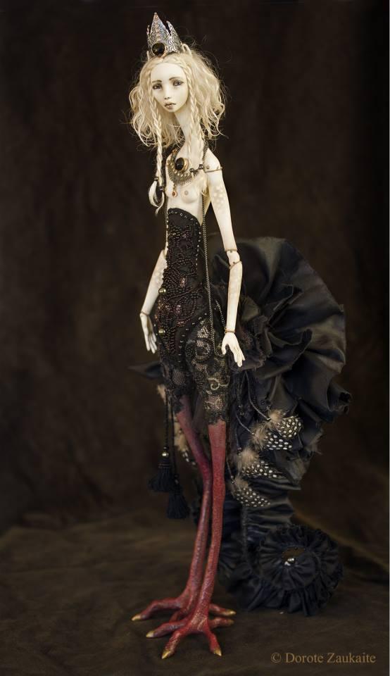 Dorote Zaukaite – Black Siren dolls mixed media