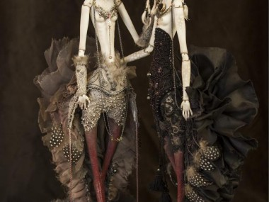 Dorote Zaukaite – Black Siren dolls mixed media