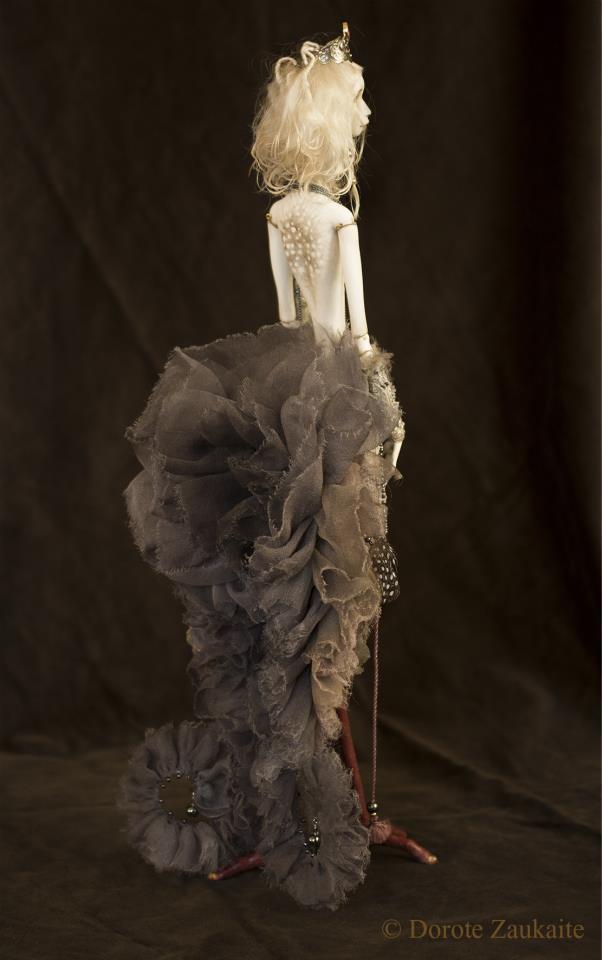 Dorote Zaukaite – Grey Siren dolls mixed media