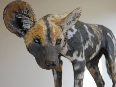 Nick Mackman – Painted dog sculpture