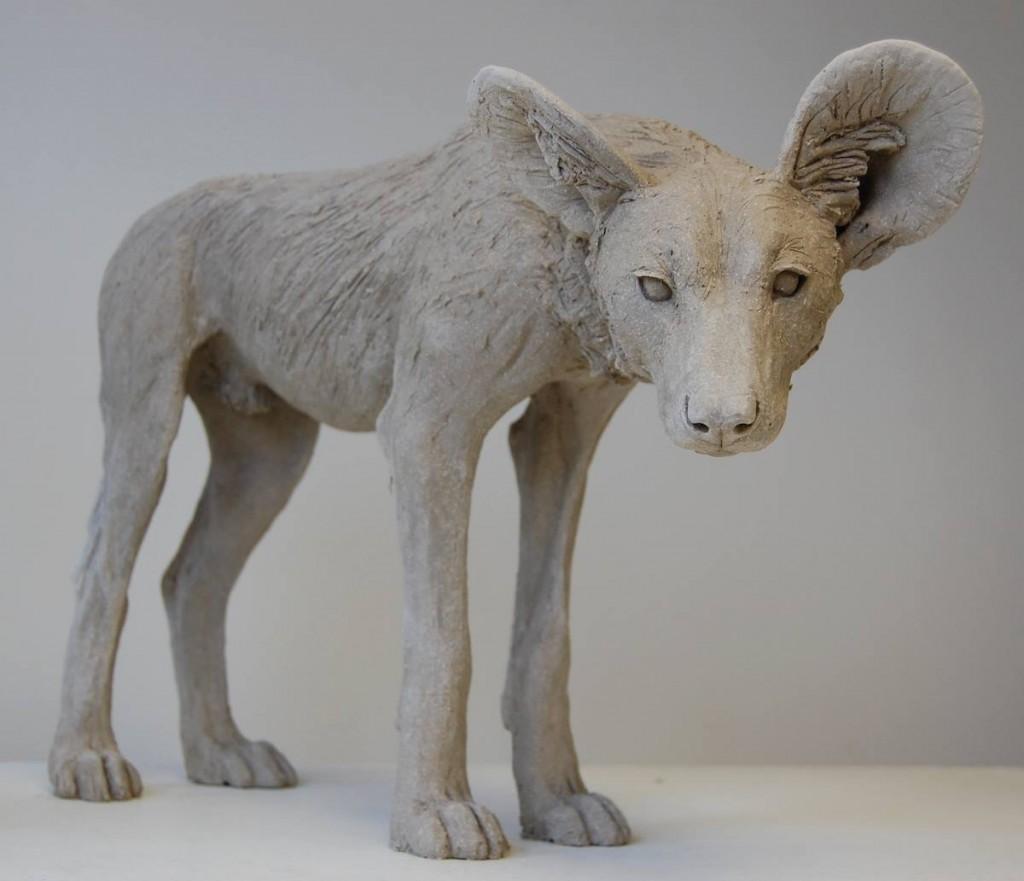 Nick Mackman - Painted dog sculpture