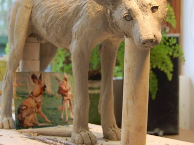Nick Mackman – Painted dog sculptures