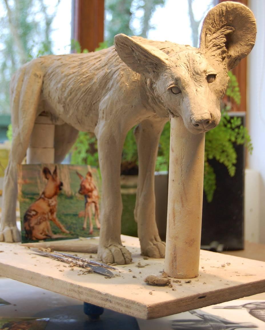 Nick Mackman – Painted dog sculptures