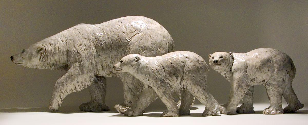 Nick Mackman – Polar bear sculptures