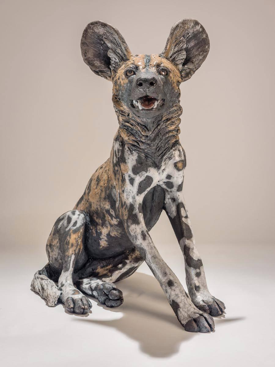 Nick Mackman – Wild dog sculpture