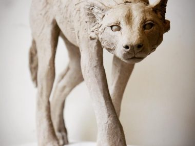 Nick Mackman sculpture – Wild dog sculpture