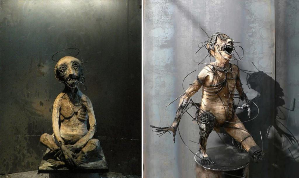 Olivier de Sagazan - Macabre sculptures