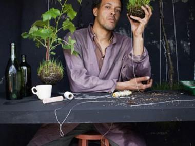 Fedor van der Valk portrait  – hanging planters – string garden decorations