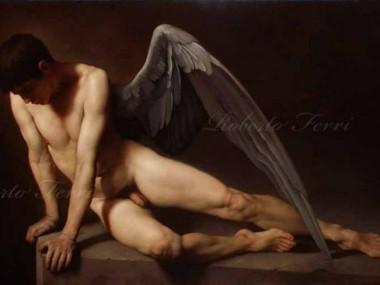 Roberto Ferri – AMORE PIANGE SULLA TOMBA DI PSICHE