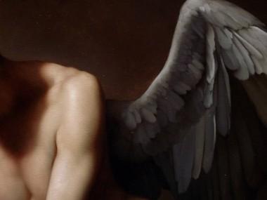 Roberto Ferri – AMORE PIANGE SULLA TOMBA DI PSICHE detail