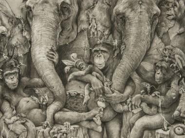 Adonna Khare Artist – Mural Fresque Chimps