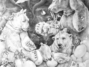Adonna Khare Artist – Fresque Murale ours