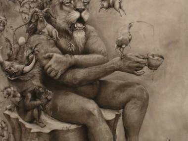 Adonna Khare Artist – Fresque lions