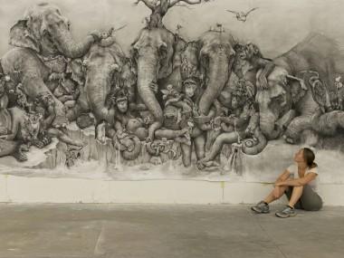 Adonna portrait – fresques murales