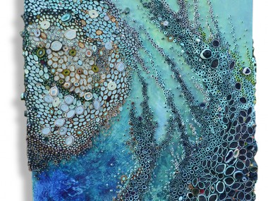 Amy Genser – we are water / Dimensional paper collages