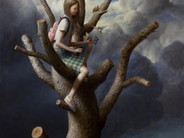 Aron Wiesenfeld – the Tree – oil on canvas
