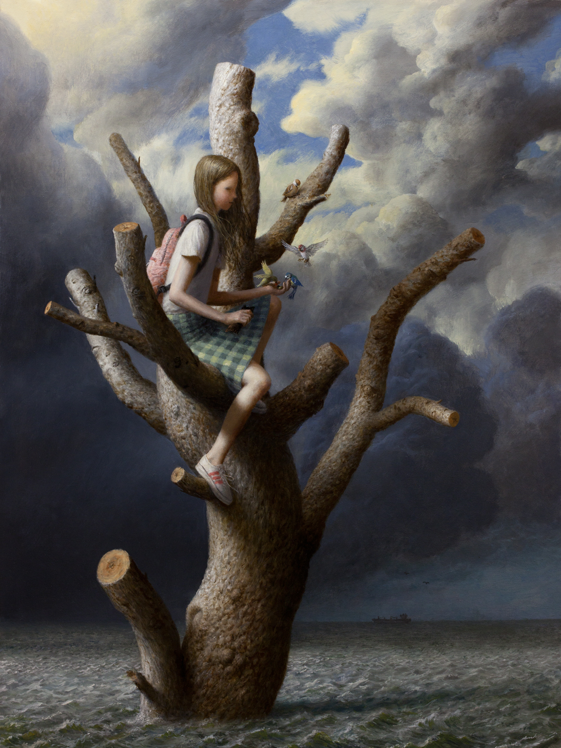 Aron Wiesenfeld – the Tree – oil on canvas
