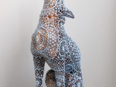 Joana Vasconcelos – Wolf sculpture dentelles Art