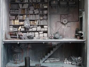 Marc Giai-Miniet – Embarcadere au ciel etoile 45 x 45 x 15 / Sculpture box