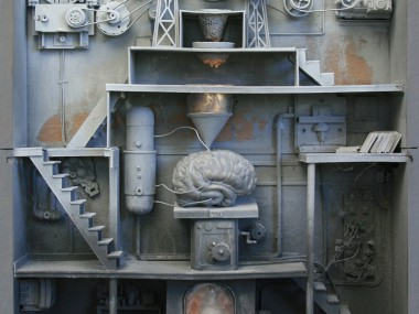 Marc Giai-Miniet – Remplissage du cerveau, 67 x 46 x 10