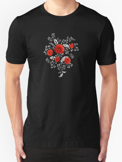 Poppy coquelicot graphic tee-shirt