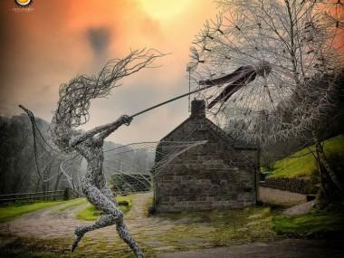 Robin Wight – fil de fer sculptures pissenlit