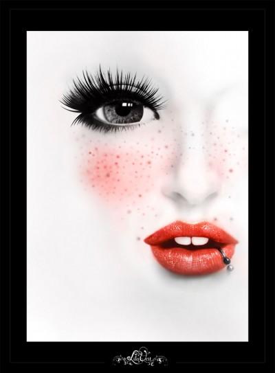 Kiss me – Digital illustration – LilaVert