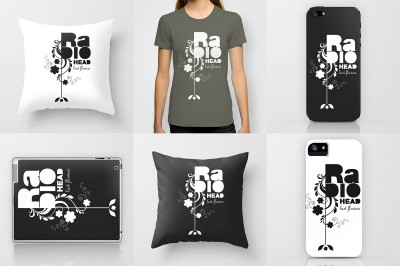 Tee-shirt radiohead – iphone-Ipad-coussin ©LilaVert