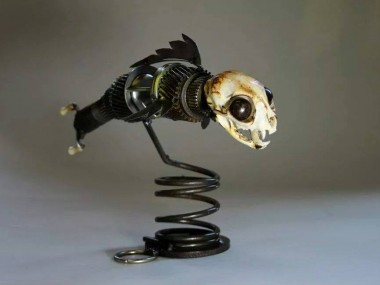 Brett Mcdanel – Catfish – sculptures steampunk