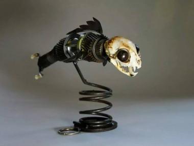 Brett Mcdanel – Catfish – sculptures steampunk