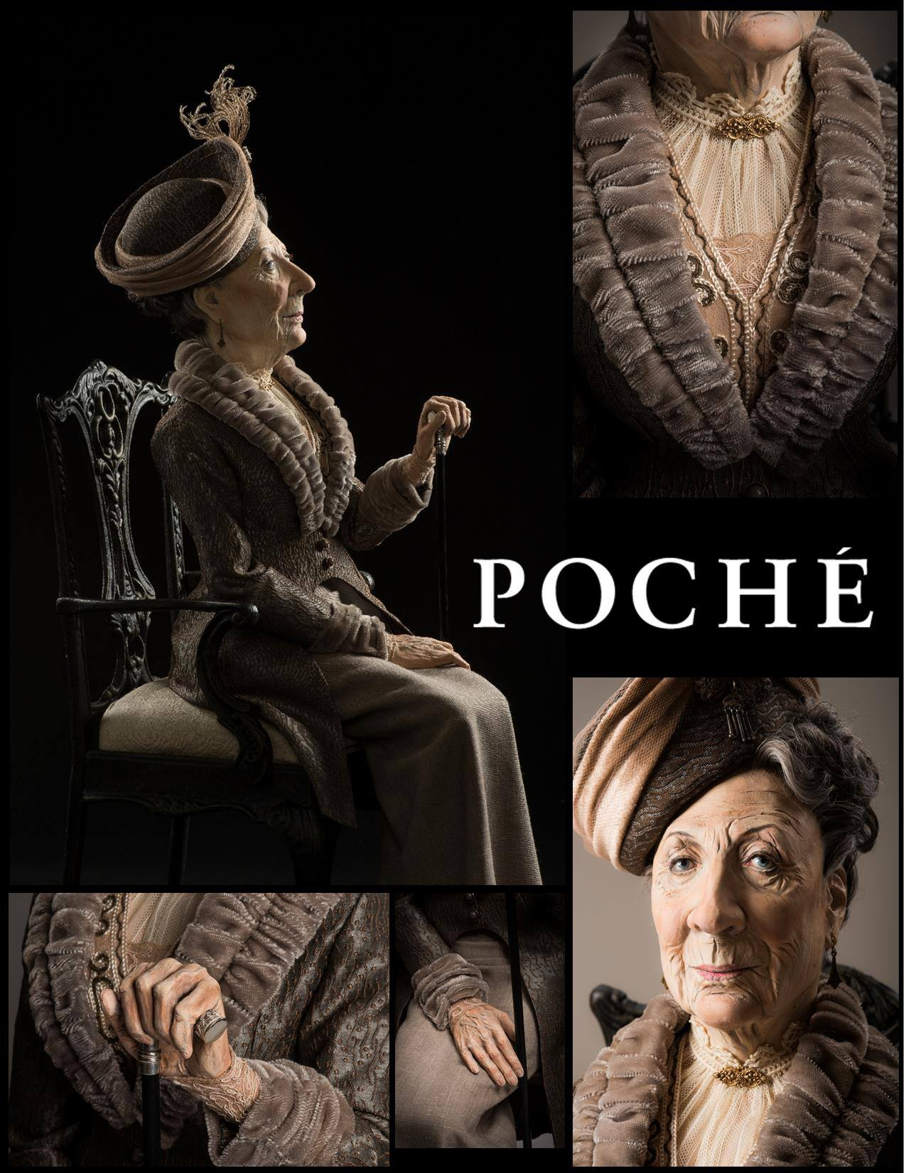 Dustin Poche – The Dowager Countess doll sculpture