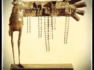 Guillermo Rigattieri Steampunk sculpture  Suban a mi brazo