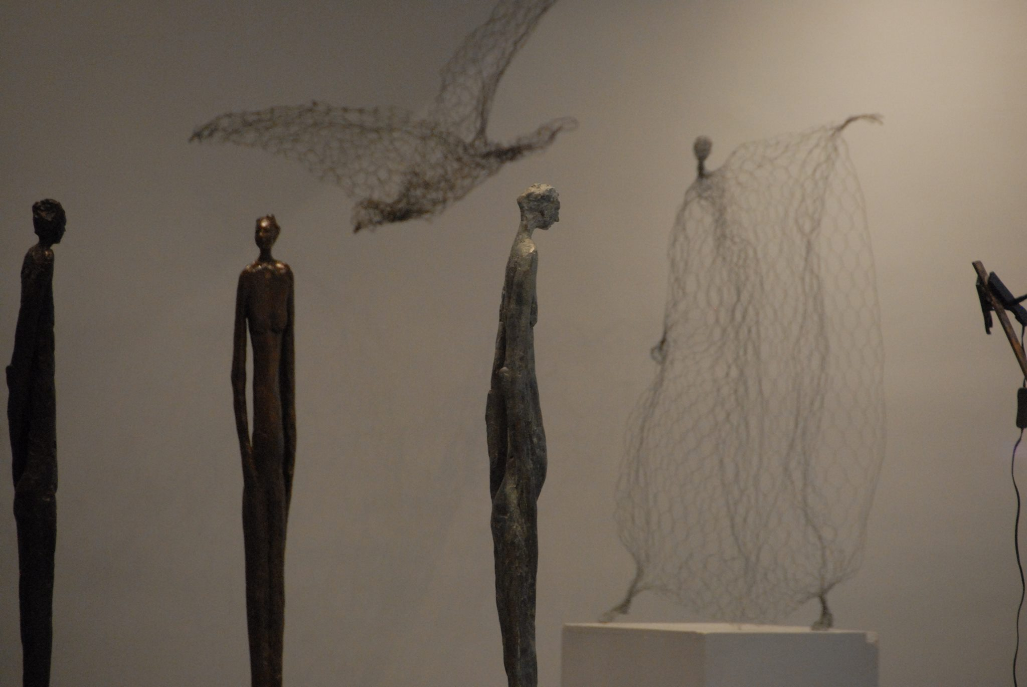 Magic Wire mesh sculptures by Pauline Ohrel