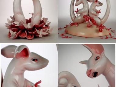 Rebekah Bogard – Earthenware-oil-paint-underglaze-glaze
