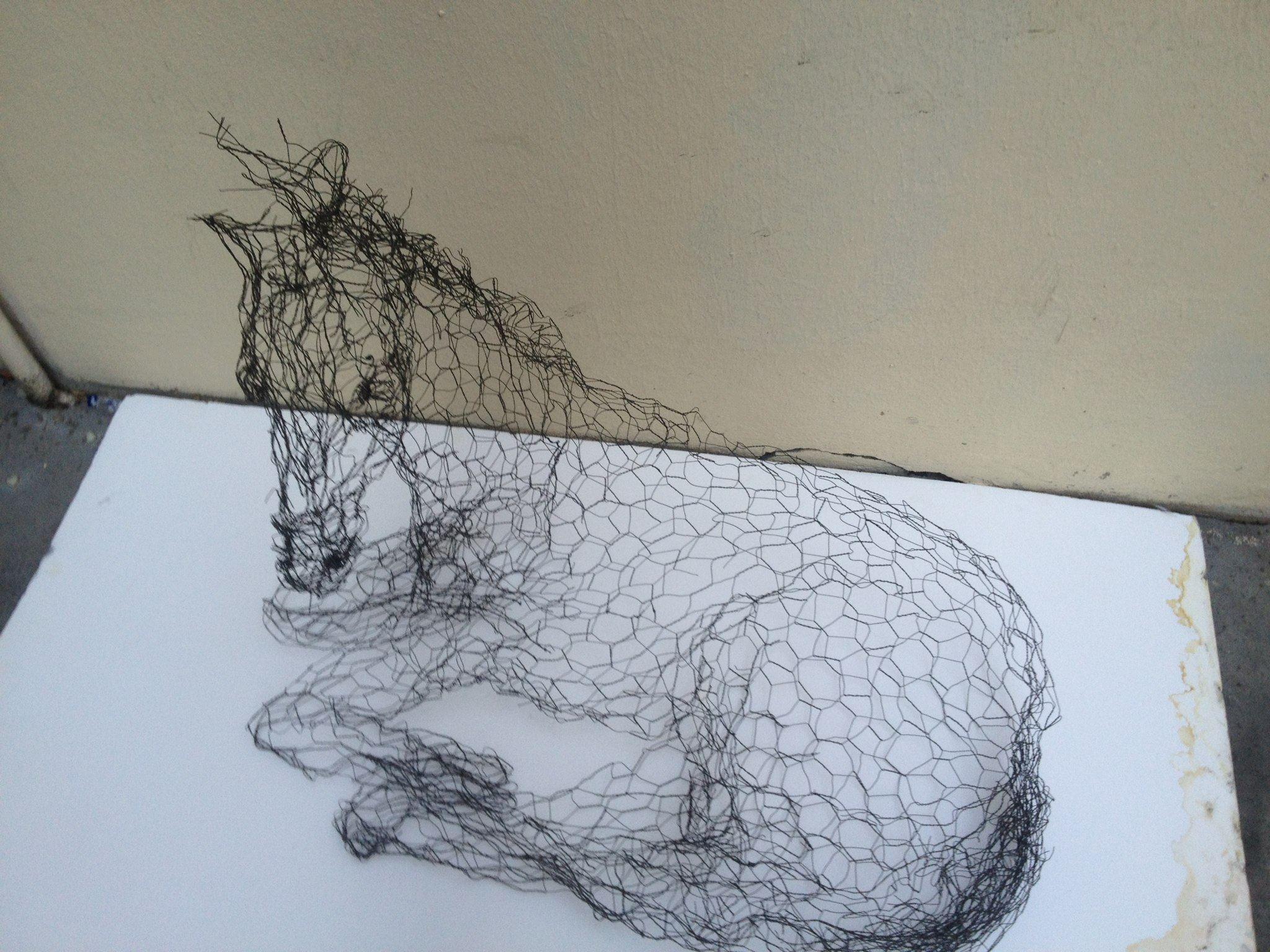 magic wire mesh sculpture by pauline ohrel blog graphiste sculptures photos ver et vie. Black Bedroom Furniture Sets. Home Design Ideas