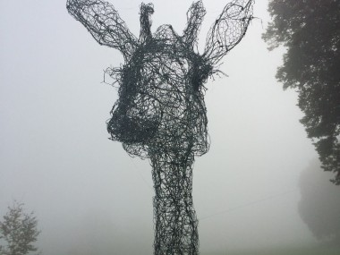 fil de fer sculptures by Pauline Ohrel – Giraffe