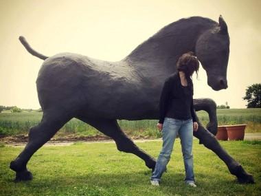 saone de stalh – sculpture – brann 2014