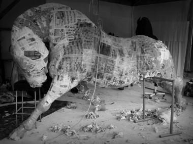 saone de stalh – sculpture – cheval atelier structure