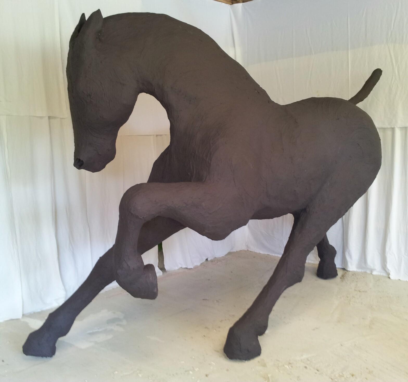 saone de stalh – sculpture monumental – cheval brann – 2014