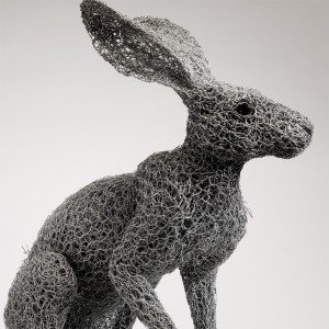 Kendra Haste - ARIZONA JACKRABBIT (2013) - Sculptures grillage