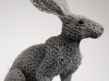 Kendra Haste – ARIZONA JACKRABBIT (2013) – Sculptures grillage