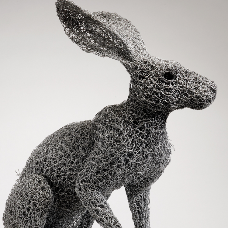 Kendra Haste - ARIZONA JACKRABBIT (2013) - Sculptures grillage