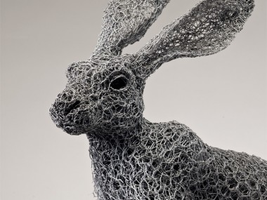 Kendra Haste – ARIZONA JACKRABBIT (2013) – Sculptures grillage