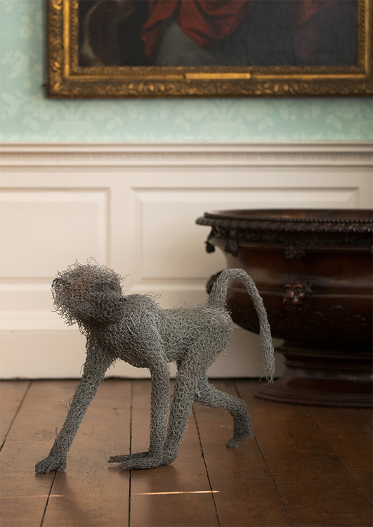 Kendra Haste – Baboons – Sculptures grillage / Galvanised wire