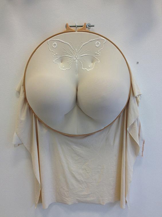 Sally Hewett – textile sculptures – fesses