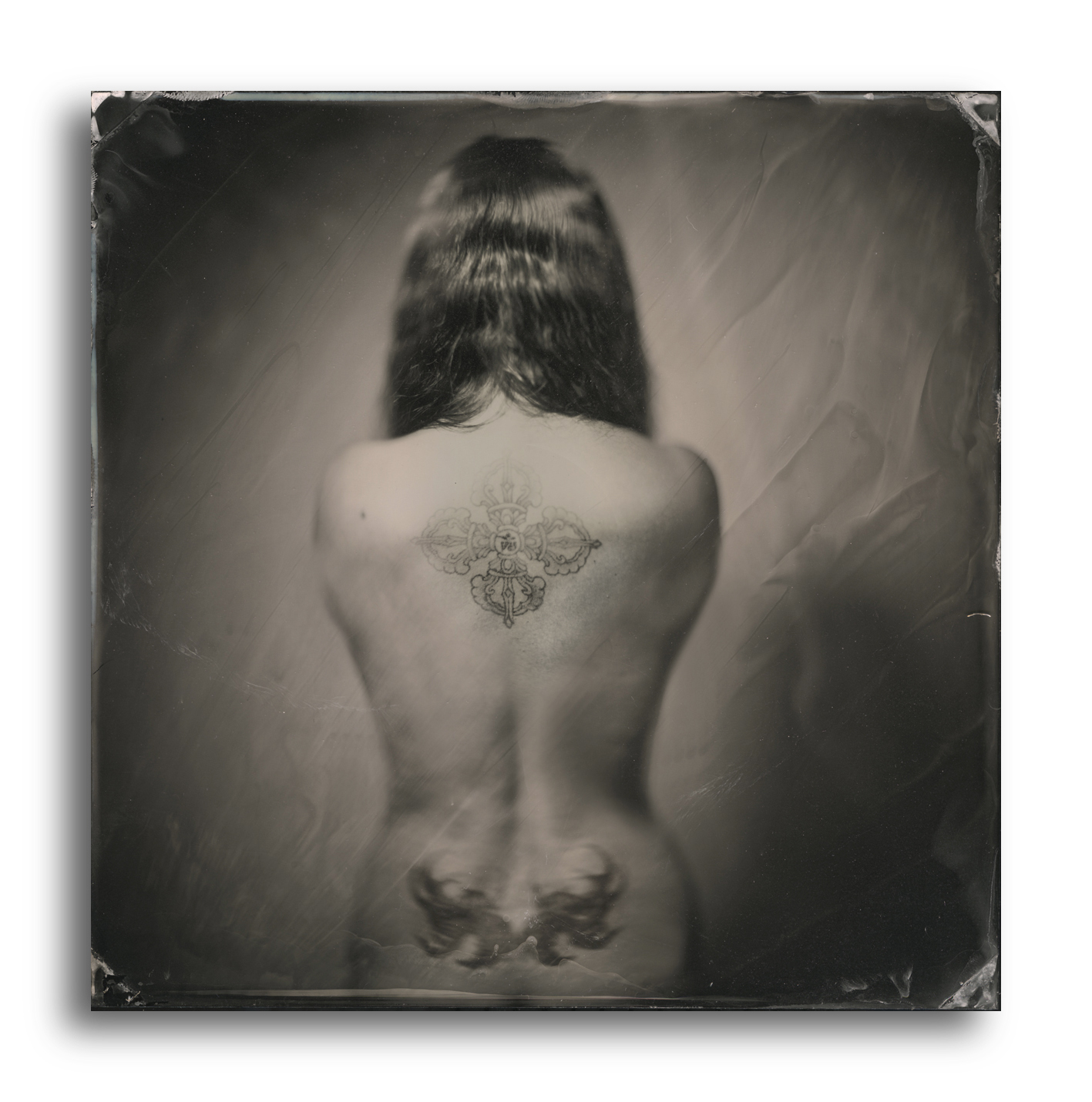 Dave King – agata – Quarter Plate Black Perspex Ambrotype