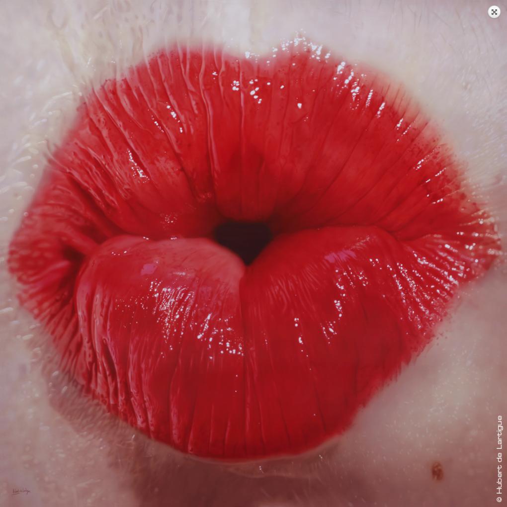 Hubert de Lartigue – Poppy – Acrylique sur toile -200×200