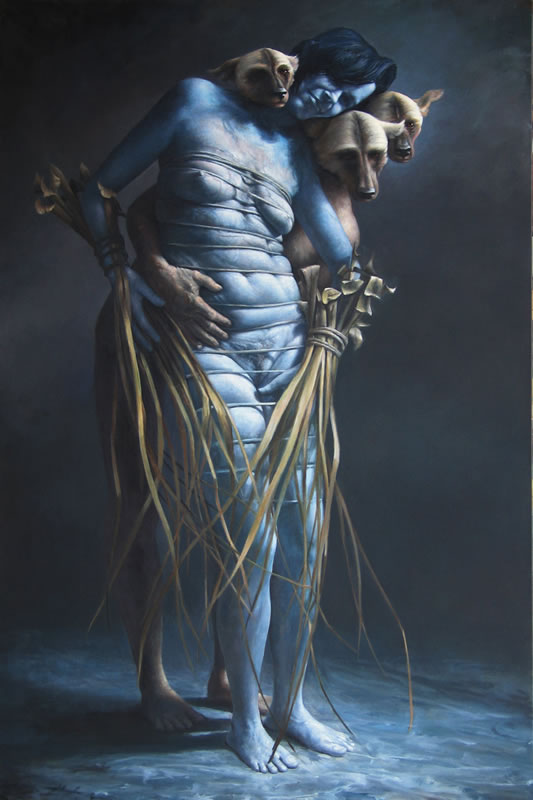 James Guppy – Death and the Maiden – 2010 acrylic on linen 183 x 122 cm