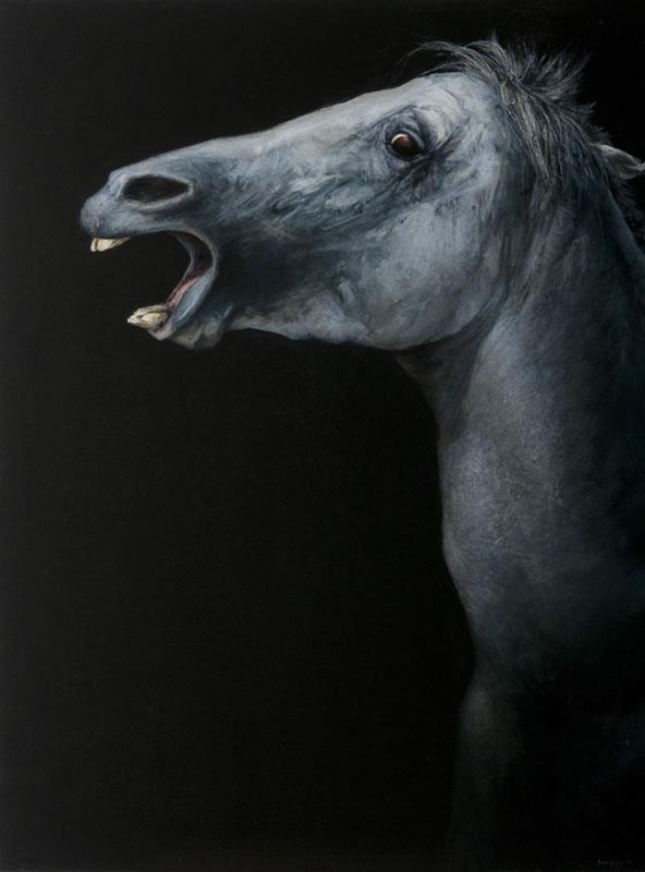 James Guppy – Mazeppa – 2010 acrylic on linen 122 x 92 cm